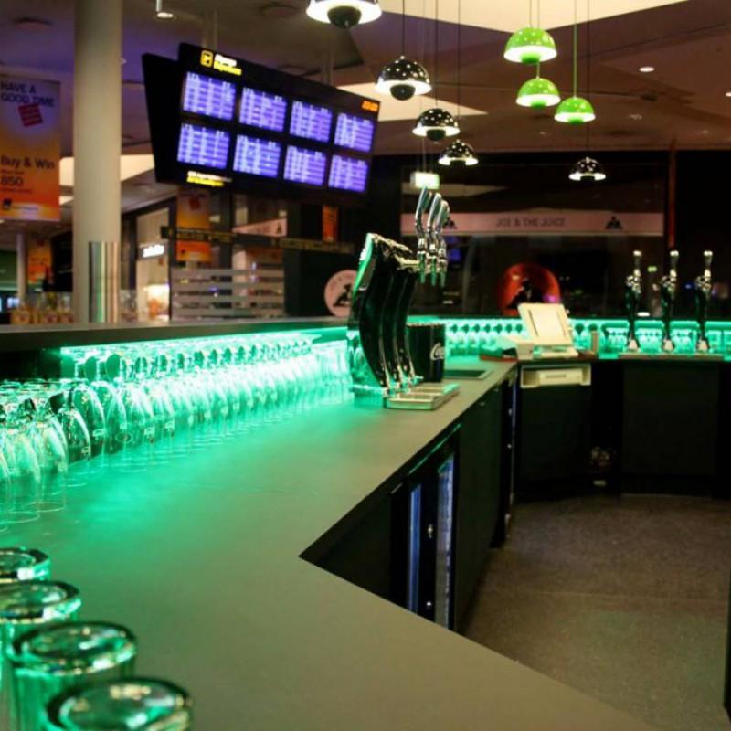 baren indvendig, Carlsberg Bar, Lufthavnen, Kastrup