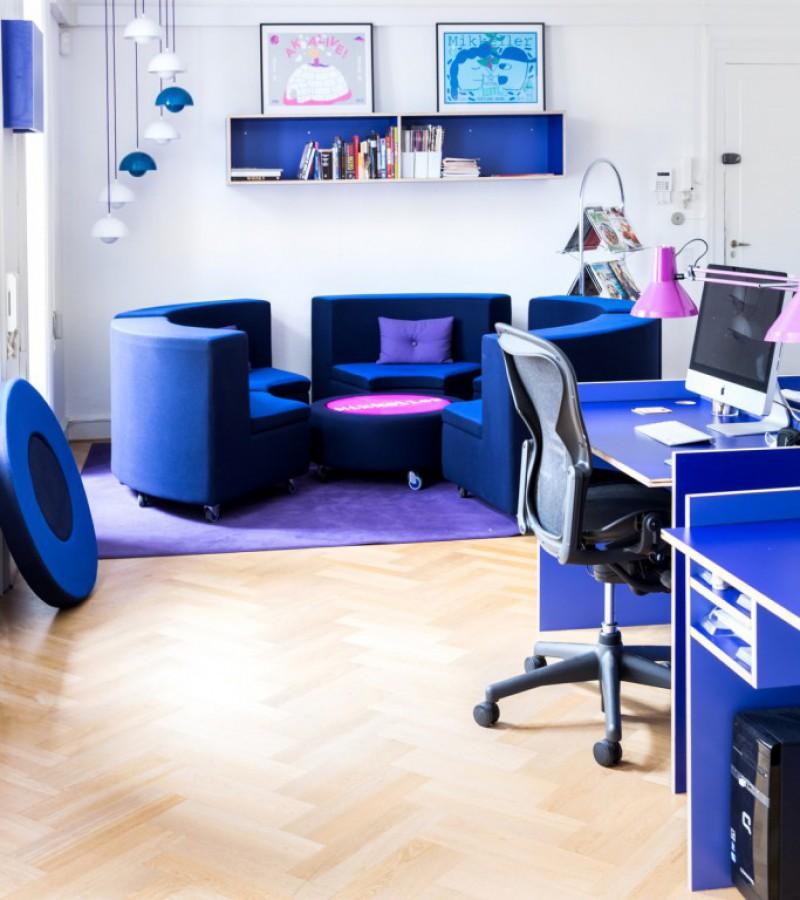 sofagruppe med lamper, kontoret, Mikkeller HQ