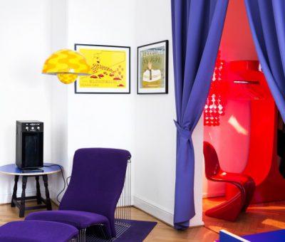 panton stole & lamper, draperi, Mikkeller HQ