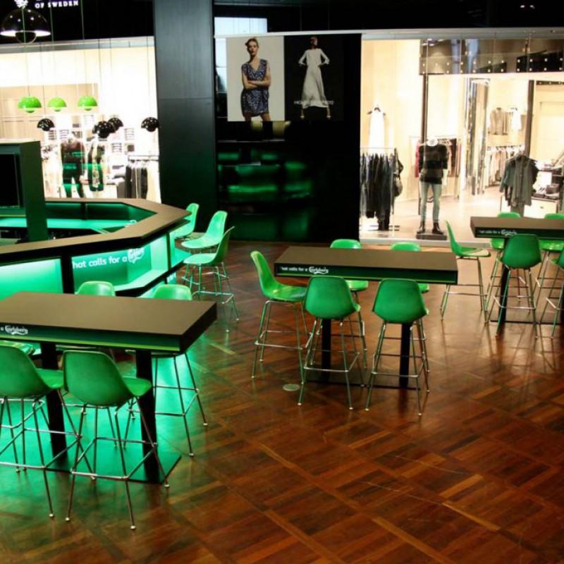 højborde & stole, Carlsberg Bar, Lufthavnen, Kastrup